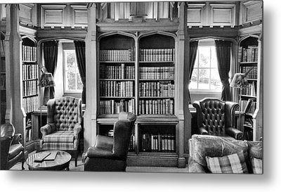 Metal Print featuring the photograph Castle Library by Christi Kraft