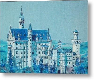 castle Neuswanstein Metal Print by Radchenko Julia