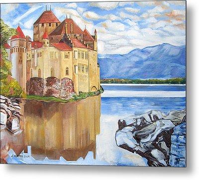 Castle Of Chillon Metal Print by John Keaton