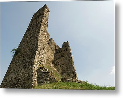 Metal Print featuring the photograph Castle Of Dasburg Near The Ardennes  - Natioanlpark Eifel - Germany by Urft Valley Art