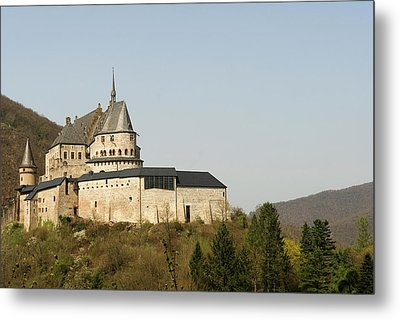 Metal Print featuring the photograph Castle Of Vianden - Margarete Of Courtenay -  King Philip-augustus - King William Of Holland by Urft Valley Art