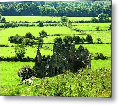 Castle Ruins Countryside Metal Print
