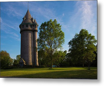 Castle Turret On The Green Metal Print