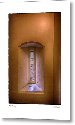 Castle Window Metal Print by R Thomas Berner