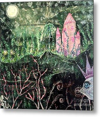 Castle Wisteria Metal Print by Julie Engelhardt