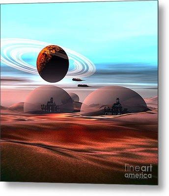 Castles In The Sand Metal Print by Corey Ford
