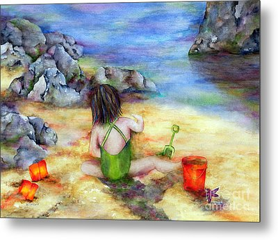Castles In The Sand Metal Print by Winona Steunenberg