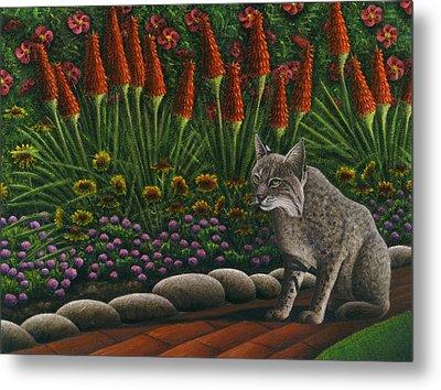 Cat - Bob The Bobcat Metal Print by Carol Wilson