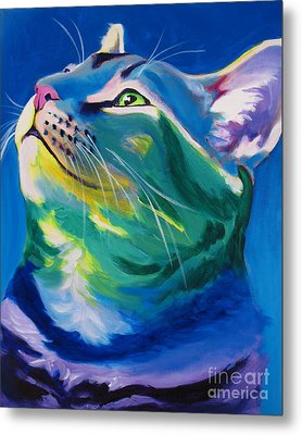 Cat - My Own Piece Of Sky Metal Print by Alicia VanNoy Call