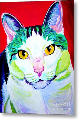 Cat - Zooey Metal Print by Alicia VanNoy Call