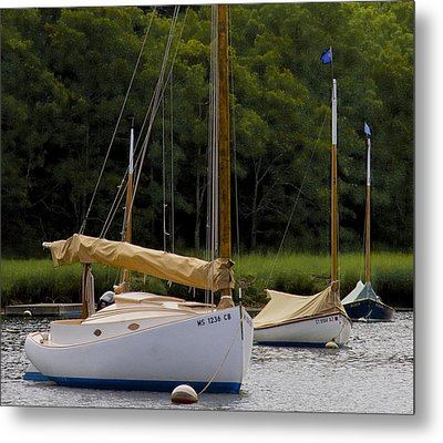 Metal Print featuring the photograph Cat Boats by Michael Friedman