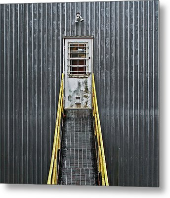 Metal Print featuring the photograph Cat Door by Richard George