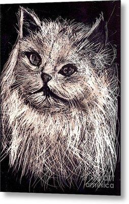 Cat Life Metal Print by Leonor Shuber