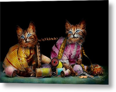 Cat - Mischief Makers 1915 Metal Print by Mike Savad