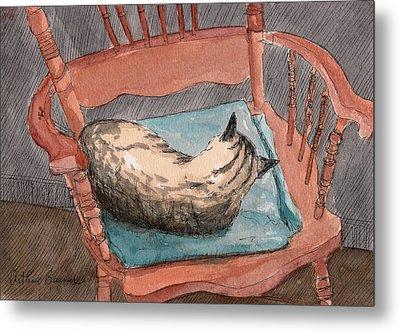 Cat Nap 2001 Metal Print by Arthur Barnes