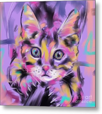 Cat Wild Thing Metal Print by Go Van Kampen