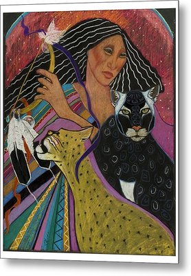 Cat Woman From Palenque Metal Print