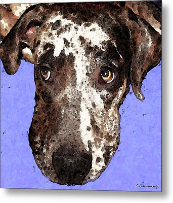Catahoula Leopard Dog - Soulful Eyes Metal Print by Sharon Cummings
