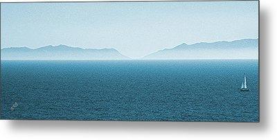 Catalina Island Large Panoramic Color Fine Art Print On Metal Metal Print by Ben and Raisa Gertsberg