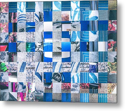 Metal Print featuring the mixed media Catalogue Blues by Jan Bickerton