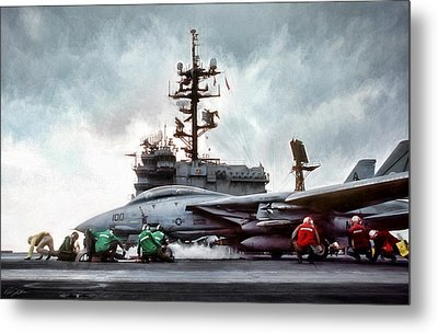 Catapult Crew Metal Print by Peter Chilelli