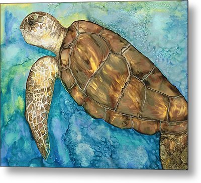 Catch A Wave Metal Print by Lisa  Marsing