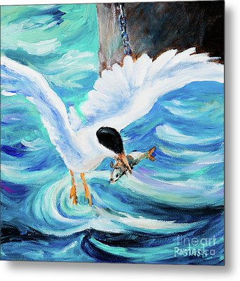 Metal Print featuring the painting Catch by Igor Postash