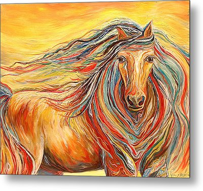 Catch Me If You Can Metal Print by Rebecca Robinson