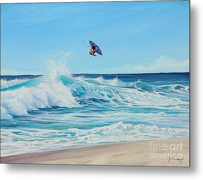Catching Air Metal Print by Joe Mandrick