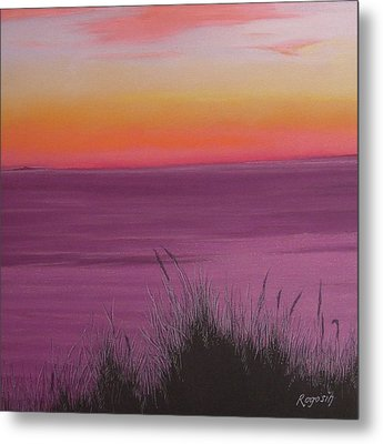 Catching The Mood At Cape Cod Bay Metal Print by Harvey Rogosin