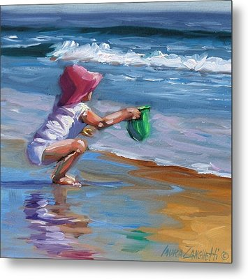 Catching The Wave Metal Print by Laura Lee Zanghetti