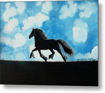 Metal Print featuring the painting Catching The Wind by Connie Valasco