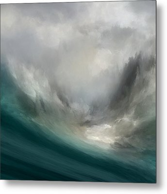 Catching Waves Metal Print