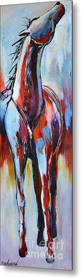 Metal Print featuring the painting Catching Wind by Cher Devereaux