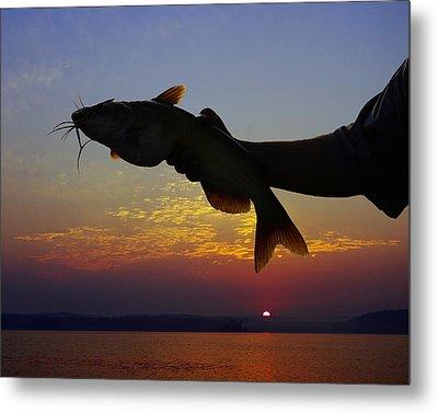 Catfish At Sunrise Metal Print by Ron Kruger
