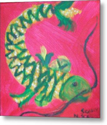 Catfish Rolled In Cornmeal Metal Print by Seaux-N-Seau Soileau