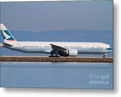 Cathay Pacific Airlines Jet Airplane At San Francisco International Airport Sfo . 7d11882 Metal Print by Wingsdomain Art and Photography
