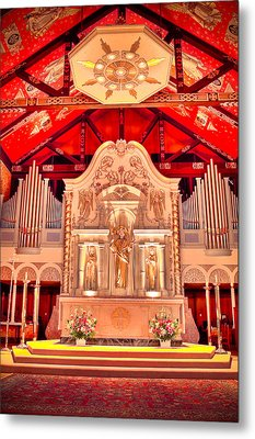 Cathedral Basilica Of St. Augustine Metal Print by Rich Leighton