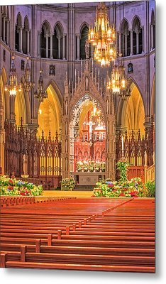 Cathedral Basilica Of The Sacred Heart Newark Nj Metal Print by Susan Candelario