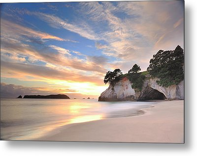 Cathedral Cove Metal Print by Photography By Anthony Ko