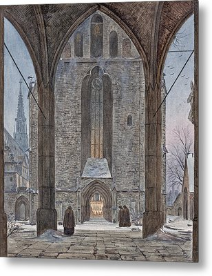 Cathedral In Winter Metal Print