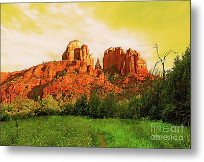 Cathedral Rock Az Metal Print