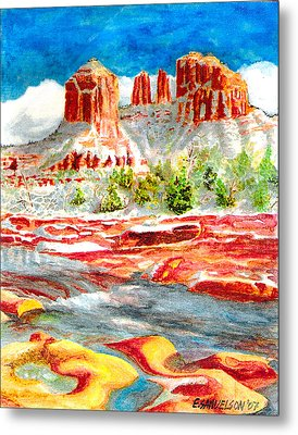 Cathedral Rock Crossing Metal Print by Eric Samuelson