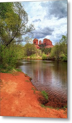 Metal Print featuring the photograph Cathedral Rock From Oak Creek by James Eddy