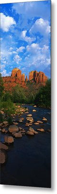 Cathedral Rock Oak Creek Red Rock Metal Print by Panoramic Images