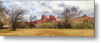 Cathedral Rock Panorama Metal Print by James Eddy