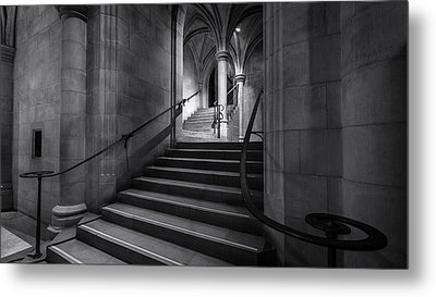 Cathedral Stairwell Metal Print by Michael Donahue