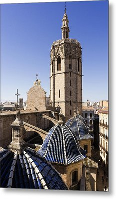 Cathedral Valencia Micalet Tower Metal Print