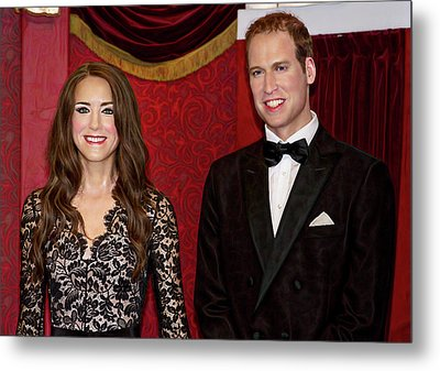 Metal Print featuring the photograph Catherine And Prince William by Miroslava Jurcik
