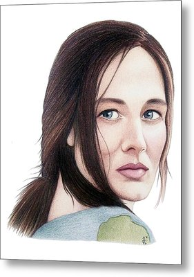 Metal Print featuring the drawing Catherine Mccormack  by Danielle R T Haney